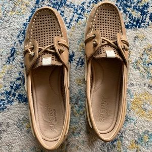 Sperry Topsider Ivy Coil Perforated Boat Shoe Tan